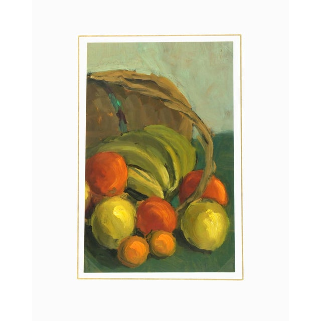 Vintage 1968 Cornucopia Oil Painting - Image 3 of 3