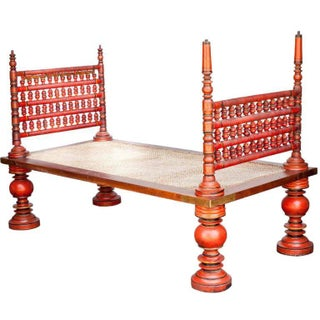 Antique Hand Painted Boho Chic Daybed