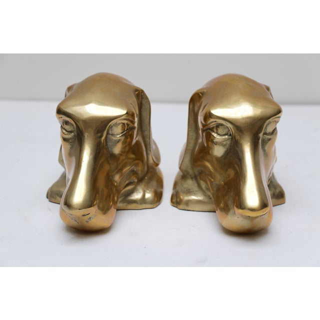 Solid Brass Labrador Bookends - A Pair - Image 5 of 8