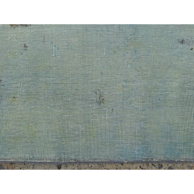 Image of Overdyed Distressed Persian Rug - 9' X 10'4""