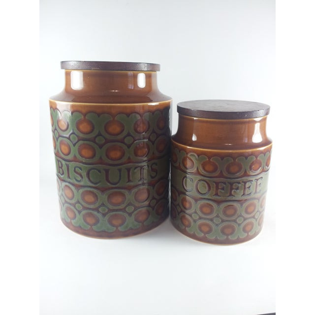 Image of Mid-Century English Biscuit & Coffee Canister Set