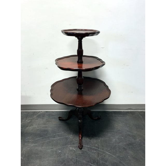 Image of Vintage Mersman 3-Tier Mahogany Table
