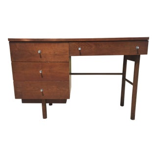 Mid Century Stanley Furniture Walnut Pedestal Desk