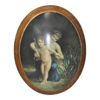 """19th Century """"Venus & Cupid"""" Oil Painting"""