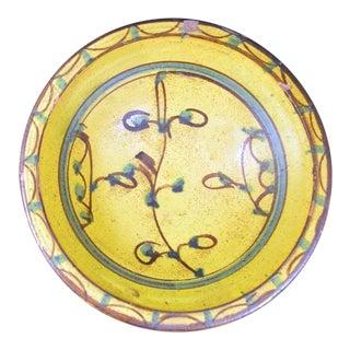 Yellow Glazed Earthenware Bowl, Probably Spanish, 19th Century