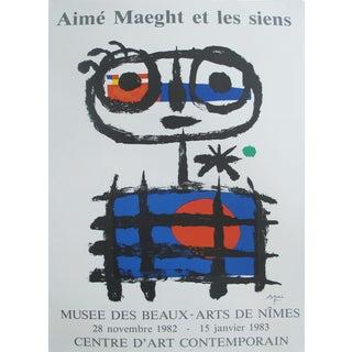 """1982 Original Vintage """"Aimé Maeght et les siens Poster"""", Musée des beaux-arts de Nîmes"""
