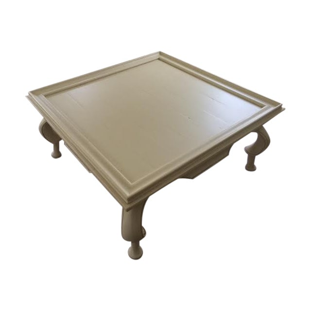 Oversized Tan Coffee Table - Image 1 of 6