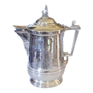 19th C. Large Silver Ice Water Pitcher