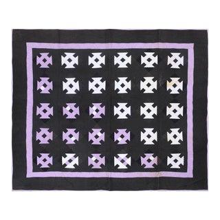 19th C. Starburst Patchwork Quilt
