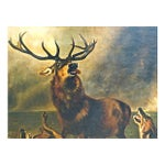 Image of 1850 Antique English Stag Painting