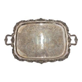 Vintage Silver Plated Serving Tray