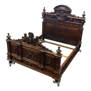 18th C. Cherub Carved French Bed