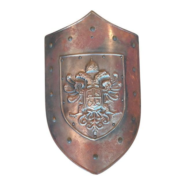 Image of Vintage Silver Metal Shield