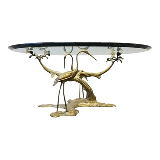 Willy Daro Regency Style Solid Brass Tree & Crane Table
