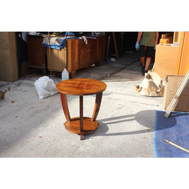 Beautiful French Art Deco Coffee Table or Side Table Exotic Walnut, circa 1940s - Image 6 of 10