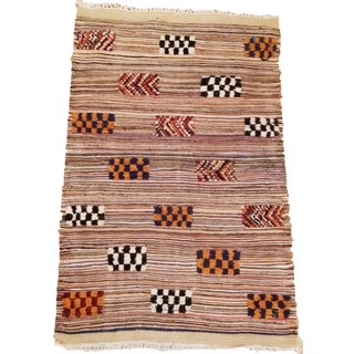 Moroccan Akhnif Reversible Multicolor Wool Rug - 2′5″ × 3′8″