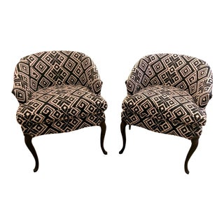 Re-Upholstered Vintage Chairs - A Pair