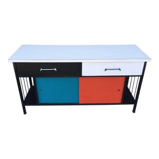 1950's Painted Metal Credenza