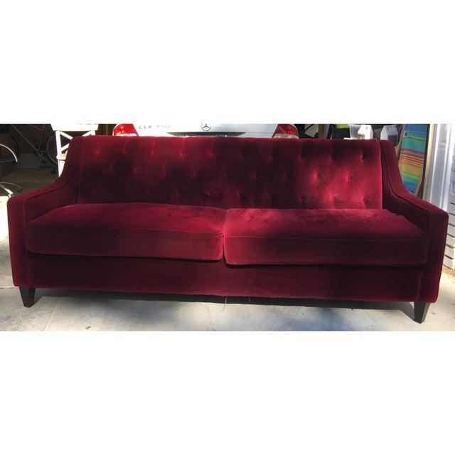 Hollywood Regency Style Velvet Sofa - Image 2 of 11