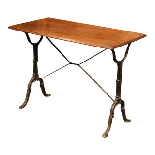 Late 19th Century French Iron & Wood Bistro Table