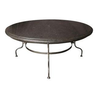 Belgian Bluestone Top Table with Iron Base