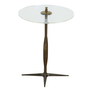 Italian Lucite and Brass Cigarette Table