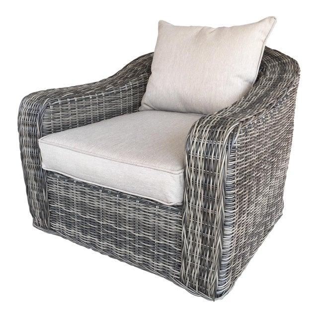 Woven Outdoor Lounge Chair - Image 1 of 7