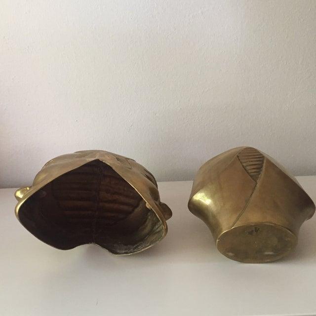 2 Faced Lidded Brass Figure - Image 11 of 11