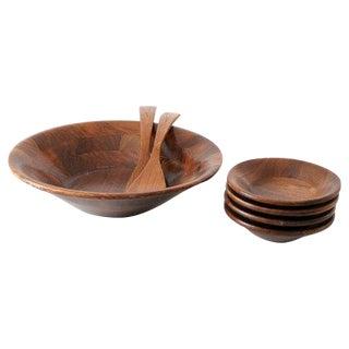 Mid-Century Wood Bowl Set