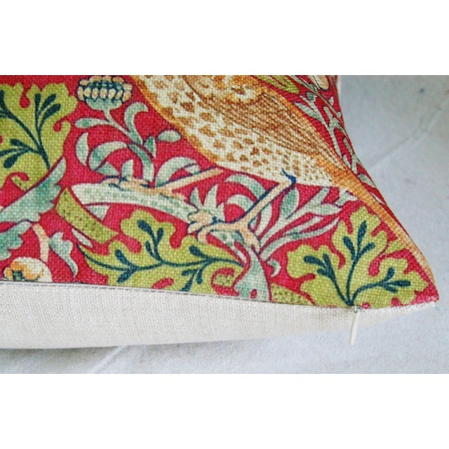 Image of Custom Meadowlarks Linen Feather/Down Pillow