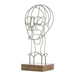 Natural Iron Wire Bust Sculpture