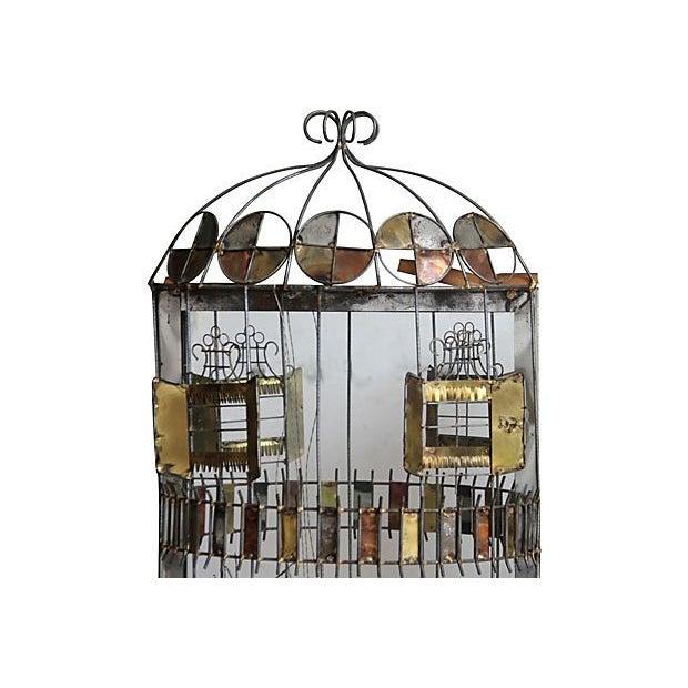 C. Jere Mirror Birdcage Sculpture - Image 3 of 4