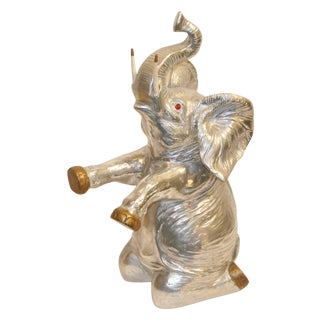 Arthur Court Aluminum Elephant Wine Cooler Bucket