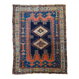 "Antique Persian Tribal Rug - 3'1"" X 4'"