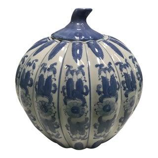 Blue & White Fluted Jar