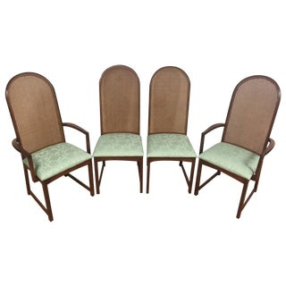 Milo Baughman Cane-Back Chairs - Set of 4