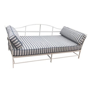 Cast Iron Sunbrella Upholstered Outdoor Daybed