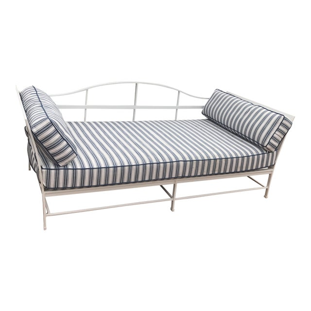 Cast Iron Sunbrella Upholstered Outdoor Daybed - Image 1 of 7