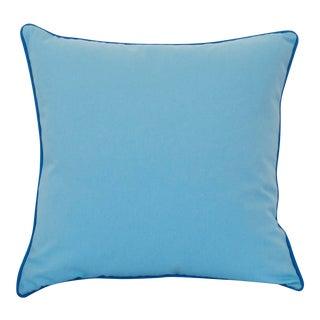 Paradise Collection Cornflower Blue & Ink Blue Welt Down Pillow