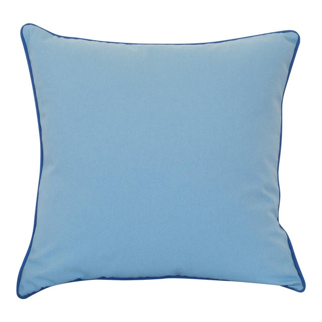 Paradise Collection Cornflower Blue & Ink Blue Welt Down Pillow - Image 1 of 4