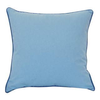 Paradise Collection Cornflower Blue & Ink Blue Welt Down Pillow