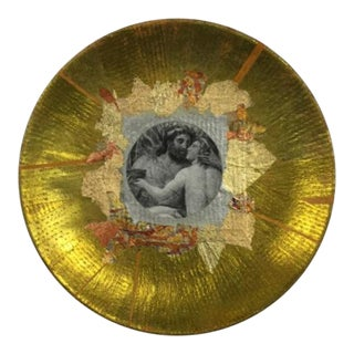 "Original Collage Plate ""Love"" by Artist Carl M. George"