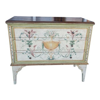Italian Solid Wood Hand Painted Dresser