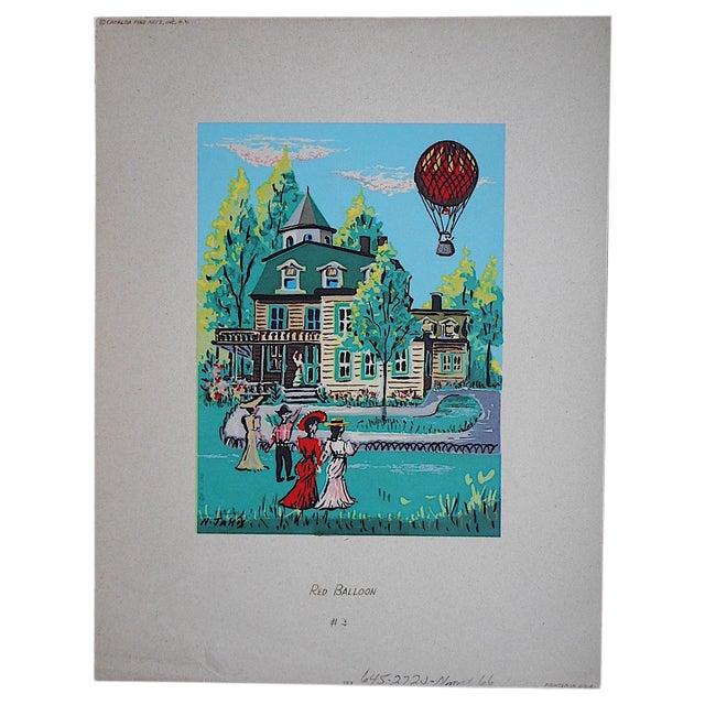 Vintage Victorian Silkscreen Print - Image 1 of 3
