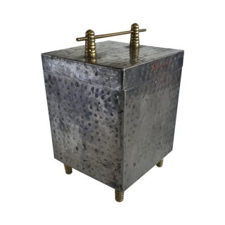 1930s Hammered Metal Box