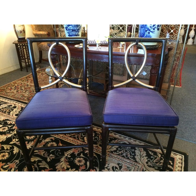 McGuire Rattan Bamboo Chairs - A Pair - Image 2 of 8