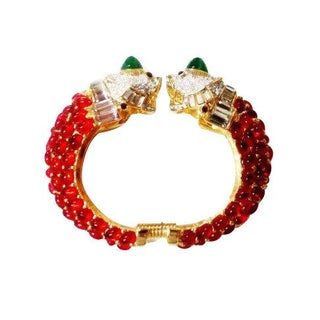 Kenneth Jay Lane Imperial Tigers Jeweled Cuff
