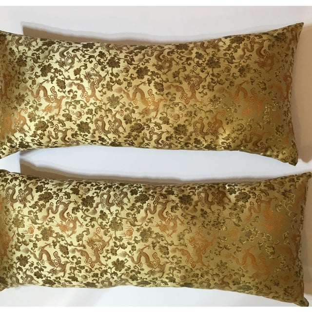 Chinese Silk Pillows - A Pair - Image 12 of 12