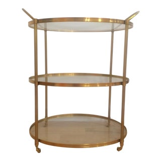 Arteriors Connaught Brass Bar Cart