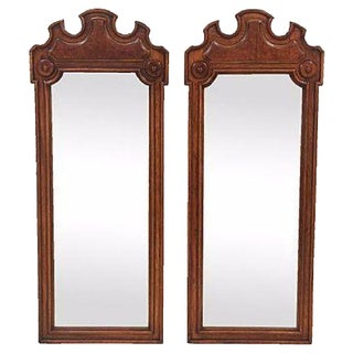 Thomasville Burled Walnut Mirrors - A Pair